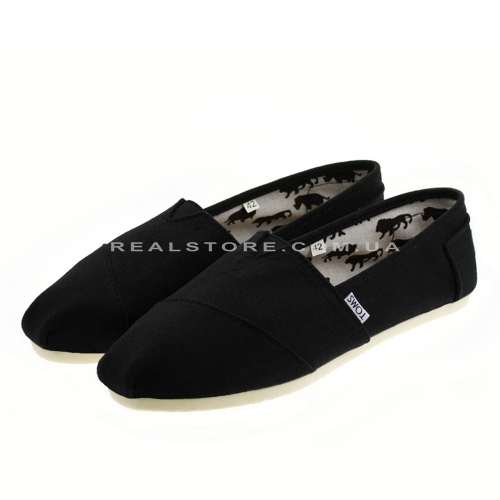 "Эспадрильи Toms Cotton ""Black"""