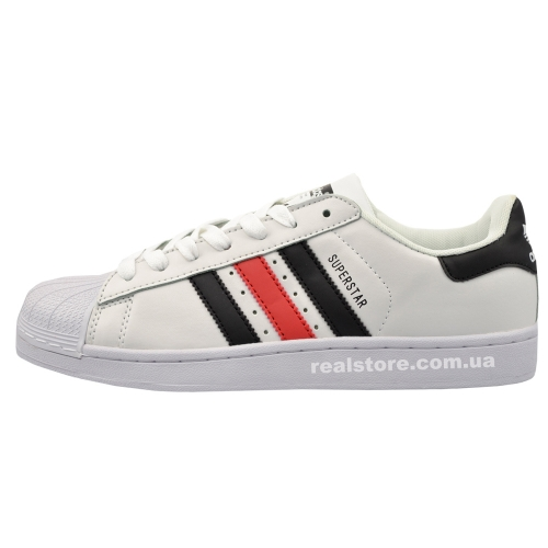 "Кроссовки Adidas Superstar ""White/Red/Black"""