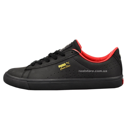 "Кроссовки Puma Court Star ""Black/Red"""