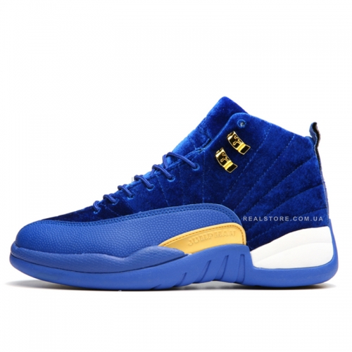 "Кроссовки Nike Air Jordan 12 Retro Velvet ""Blue/Gold"""