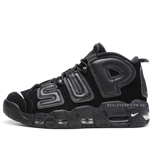 "Кроссовки Nike Air More Uptempo Supreme ""Black"""