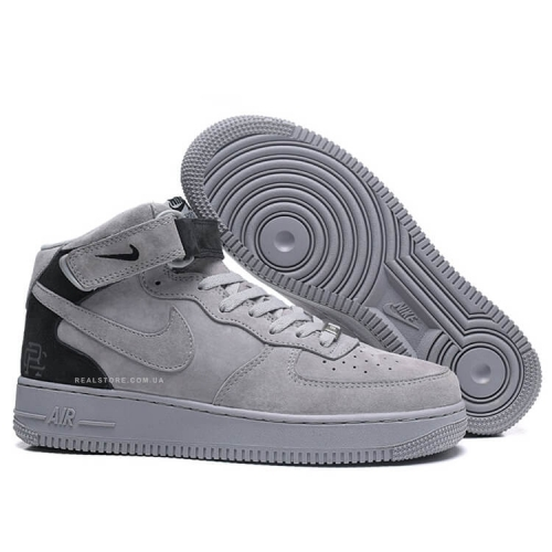 "Кроссовки Nike Air Force 1 Mid Suede ""Grey/Black"""