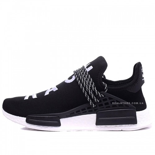 "Кроссовки Pharrell x Adidas NMD Human Race ""Black/White"""