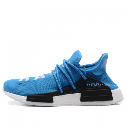 "Кроссовки Pharrell x Adidas NMD Human Race ""Blue/White"""