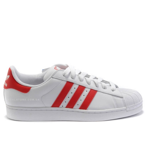 "Кроссовки Adidas Superstar ""White/Red Stripes"""
