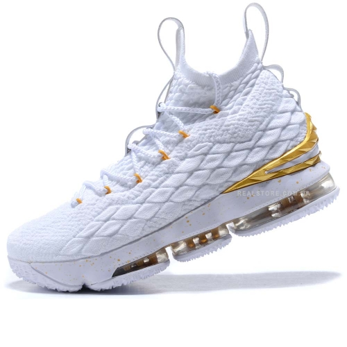 "Кроссовки Nike LeBron 15 ""White/Gold"""